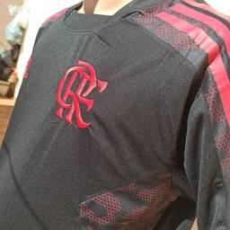 Camisa de Time 2021 Flamengo Preta Viagem Torcedor