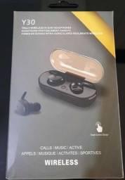 Fone de ouvido Bluetooth Y30 (novo)