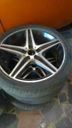 Rodas 18 com pneus 225/40 furacão 5/110
