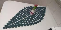 Caminho de mesa de Crochê - Modelo Espinha de Peixe - 1,20 x 0,50 ? Pronta Entrega
