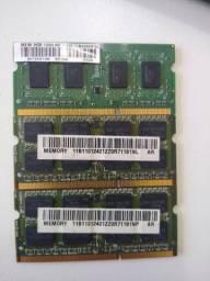 3 x DDR3 2GB Notebook ou troco por DDR2