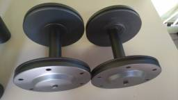 Par de halteres para academia musculação pesos dumbbells