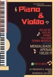 AULAS DE PIANO VIOLÃO E TECLADO!!!