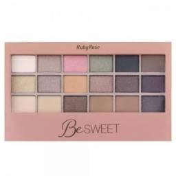 Kit Paleta Sombras Be Sweet Olhos 18 Cores E Primer HB9923
