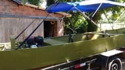 Barco com turbina de jetski e motor RD135Z - 2017