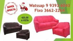 Sofa 2 e 3 lugares / sofa em promoção /