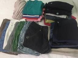 Lote roupas femininas 90 peças por 100,0