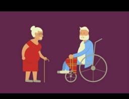 Cuidadora de idosos em hospitais ou residências.