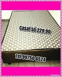 O.F.E.R.T.A. Cama Box Casal Só 229 Solteiro 189 Novas de Fábrica 99750 6524