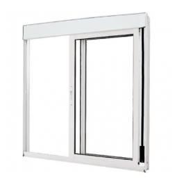 Janela vidro com persiana integrada Atlântica 1,20 x 1,20
