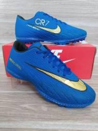 Chuteira Society Nike Blue