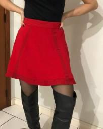 Saia Morena Rosa vermelha P