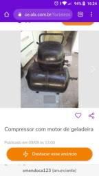 Compressor com motor de geladeira