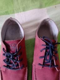 Sapato couro camurça 42 masculino