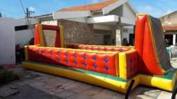 Futebol de sabão tobogã toboágua castelo inflável cama elástica