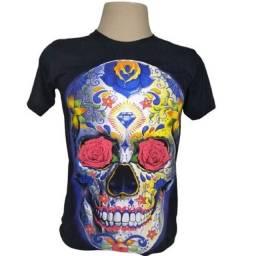 Camiseta camisa caveira  mexicana lançamento de 59,90 por 39,90