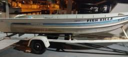 Barco de Alumínio completo.