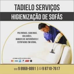 Higiênienizaçao de sofás e estofados em geral *