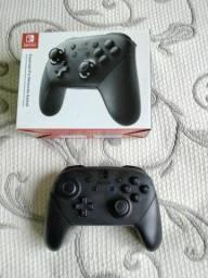 Pro controller de Nintendo switch (pouco usado, original na caixa original)