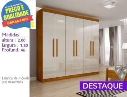 ** Catálogo completo via whats - Promoção Guarda Roupa 6 Portas 2 Gavetas Espanha