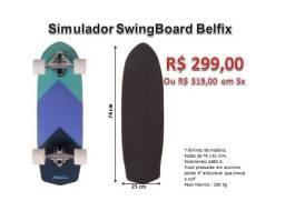 Skate Carver Swingboard Simulador Surf