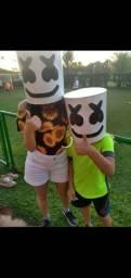 Máscara do DJ marshmallow fortnite