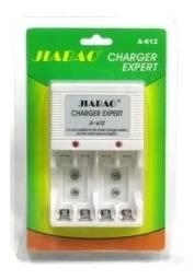 Carregador De Pilha Aa Aaa Bateria 9v Recarregável Bivolt - Loja Natan Abreu