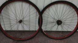antigo par aro de roda 28