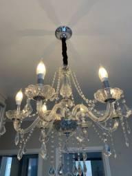 Lustre candelabro cristal clássico