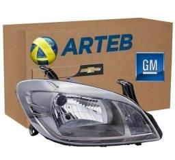 Farol Original Celta 2012 até 2015 Lado Direito (Passageiro) Modelo Dark Chrome (Novo)