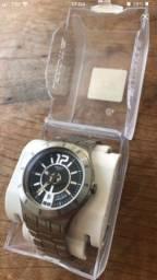 Relógio swatch original de aço inox impecável na caixa