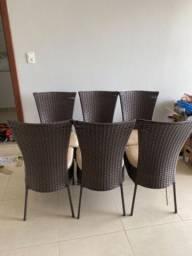 Kit cadeiras para área externa