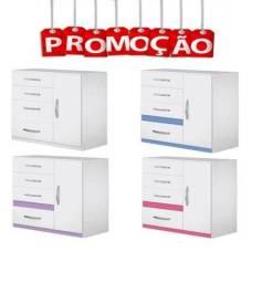 ** Catálogo completo via whats- Cômoda 1 Porta 4 Gavetas Moval Vênus