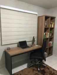 Conjunto escritório (mesa, cadeira, 2 armários)