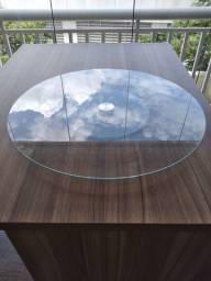 Roda de mesa de vidro em ótimo estado