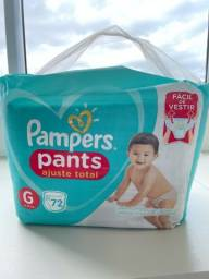 Fralda Pampers pants G com 72 unidades