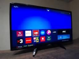"Smart tv 43"" AOC, wifi, bluetooth, bivolt, manual, nota fiscal"
