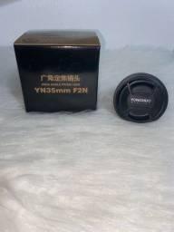 Lente Yongnuo Yn 35mm P/ Nikon F/2g (auto Foco)  MUITO NOVA usei apenas dois meses