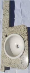 Pia lavatório banheiro granito