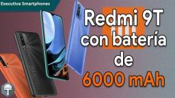 Redmi 9T 64 GB Bateria 6000 mAh Cinza/Azul