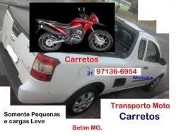 Carreto Fretes- Pequenas cargas- Transporto Pequenas Motos