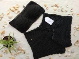 Conjunto de crochê top e short