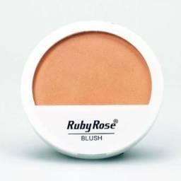 Blush Ruby Rose Cor B1 e B4 Pêssego E Bronze Soft Compacto Espelho Maquiagem Profissional