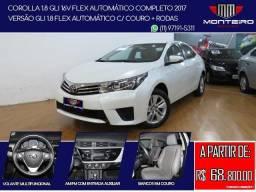 Toyota Corolla 1.8 GLI 16v Flex Automático Completo C/ Couro + Rodas - 2017