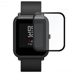 Película 5d Nano Gel Proteção Para Xiaomi Amazfit Bib Relógio Smartwatch Tela Inteira