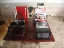 Multimídia com câmera de ré, alarme, USB, SD, TV, GPS