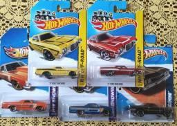 Coleção de Miniaturas Hot Wheels Escala 1 64 - Lote de 5 unidades