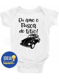Body Bebê / Infantil - Eu Amo O Fusca Do Titio