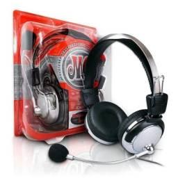 Fone de Ouvido c/ Mic Headset Gamer Pc Notebook Cabo 2.5m P2