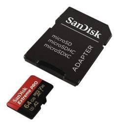 Cartão de Memória Micro SD SanDisk Extreme Pro 4K 64GB - Loja Natan Abreu
